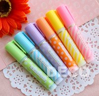 Wholesale Cute mini highlighter pens colors pack Kawaii pen Office supply Stationery ss