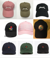 Wholesale Yeezus Embroidered Glastonbury Unstructured Dad Cap yeezu boost Unreleased Kanye Hat casquette sun rose cap god pray ovo rodeo hat
