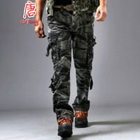 Men baggy camo pants - Army Militar Men s Trousers and Camo Pants with Side Pockets Combat Camouflage Overalls Fashion Baggy Cargo Pants for Men