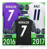 Wholesale Real Madrid jersey men sets Maillot de foot Ronaldo james bale benzema kroos modric football shirts