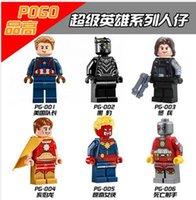 america solider - New PG8003 Super Hero Captian America Black Panther Deadshot Ms Winter Solider Minifigure Children Gift