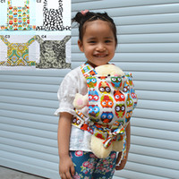 baby doll carriers - U PICK New Baby Doll Carrier Mei Tai Sling Toy For Kids Children Toddler Front Back Owl Dot Flower Kaleidoscope Mini Carrier Choices