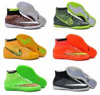Wholesale Cheap Soccer Shoes Elastico Superfly IC Indoor Men s Soccer Boots Cleats Laser original Mens shoes IC High Soccer Shoes Football Shoes