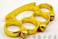 Wholesale 2016 QTY1 CHOPPER CHROME BRASS KNUCKLES KNUCKLEDUSTER BUCKLE Safety Products Knife Bones handcuffs
