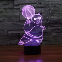 bear kung fu - 2016 kung fu bear D Optical Night Light LEDs Night Light DC V Factory