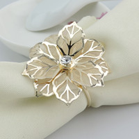 Wholesale exquisite flower Napkin Rings circle Table Decoration Kitchen Dining Accessories