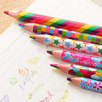 Wholesale 20pcs Rainbow Color Pencil in Colored Pencils For Drawing Stationery Drawing Office Material Material Escolar