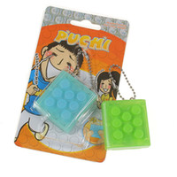 Wholesale color of Puchi Stress Reliever Squeeze Bubble Packing Crazy Gadget Endless Pop Pop Wrap Puti puti KeyChain Mugen Press funny toy