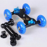 Wholesale Gopro Tripod mount Adapter Adjustable Friction quot Magic Arm Blue Dolly Skater Truck Car For Gopro HD Hero1 Hero2 Hero3