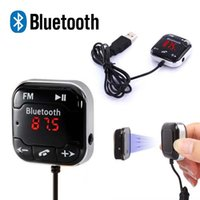 Wholesale A2DP Magnetic Car Kit Wireless Bluetooth FM Transmitter MP3 Player mm Audio AUX TF card Slots With Dual USB Car Charger
