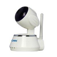 ESCAM Secure Dog QF510 IP Camera alarme de sécurité 720P Cctv Webcam P2P Wifi contrôle IR LED Night Vision Couleur Blanc