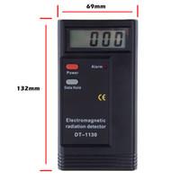 Wholesale DT1130 Digital LCD Electromagnetic Radiation gauge Detector EMF Meter Dosimeter Tester mini Measure Instruments