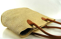 bag lady papers - The new straw bag lady shoulder bag woven bag beach package rattan package female temperament necessary idiot large paper bag bags Discrimin