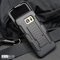 Wholesale Armor Hybrid Dual Layer Holster Case for Samsung Galaxy S6 EDGE Plus S7 S5 S4 Note5 Note4 Kickstand Locking Belt Clip Shell Cover