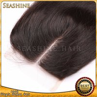 alibaba brazilian hair - Factory price unprocessed A quality hair lace closures Brazilian hair golden supplier in Alibaba