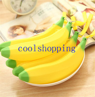 Wholesale Banana pencil case kawaii pencil bag rubber coin purse estuches school supplies stationery