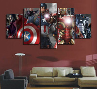 america landscapes - 5 Piece No Framed HD Printed raskol captain america civil war Painting Canvas Print room decor print poster picture canvas