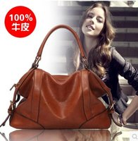 Cheap NEW The Female Leather Women Bags 2016 Hot Women Genuine Leather Women Messenger Bag Vintage handbag designer Retro Bags FREE SHIPPING