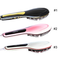 Wholesale 100 Original NASV Comb Beautiful Star NASV Hair Straightener Flat Iron Hair iron Straightening Brush Hair Styling Tool comb With LCD