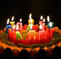 Feliz cumpleaños Arte niños vela del regalo de mini velas de cumpleaños ambiente exótico decoratiions fuente Valentine 'regalo del día del envío libre de JF-32