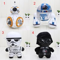 bb storm - 4pcs cm Star War Darth Vader STORM TROOPER Robot BB R2 D2 Plush Dolls Toys