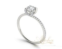 Wholesale Cheap Rhodium Plated Rings - Unique white diamond sterling silver eternity cheap timeless infinity costume jewelry promise rings for girlfriend wholesale BER0271