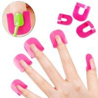 Wholesale 1 Set Pc Pro Manicure Finger Nail Art Case Design Tips Cover Polish Shield Protector Tool