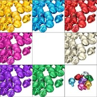 bell ornament craft - Hot Sale Colorful Iron Loose Beads Small Jingle Bells Christmas Decoration Pendants DIY Crafts Handmade Accessories
