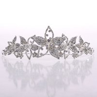 Wholesale Sparkling Clear Tiara Wedding Hair Jewelry Bridal Wedding Head Pieces New Design Stainless Steel Material