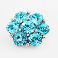 Wholesale 18MM high quality Metal crystal rhinestone Snap Button Charm Button Snaps Jewelry NOOSA chunk ginger snaps for noosa bracelet