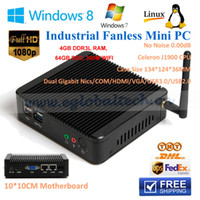 alloy hdmi cable - Intel SOC Stick PC Windows MM Small Alloy ITX Case Fanless Mini PC J1900L GB RAM GB SSD Years Warranty Free HDMI Cable