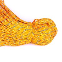 Wholesale Orange Paracord Paracord Parachute Cord Lanyard Rope Mil Spec Type III Strand FT Climbing Camping Survival Equipment