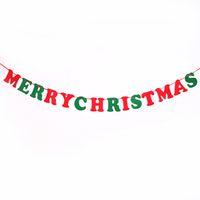 Wholesale Christmas Decoration Christmas letters Felt Pennant Flag Banner M Home Party Decor set