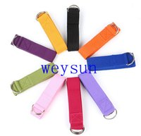 Wholesale 185cm Yoga Stretch Strap D ring Belt Stretching Band Washable Adjustable Fitness Belts