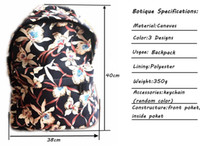 Wholesale Fashion backpack girl school flower bag factory directly supply