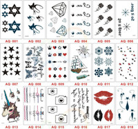 Wholesale Waterproof Temporary Tattoo Fashion Body Art Male Female Cute Tattoos Stickers Flash Tattoos Styles Mixed Order TA008