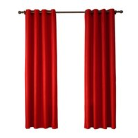 Wholesale Retail Ready Made Blackout Red Color Window Blinds Plain Curtain for Room