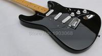 Wholesale Black Nice Finished F custom David Gilmour ST electric guitar signature guitarra chrome hardware