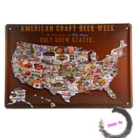 beer week - AMERICAN CRAFT BEER WEEK ONLY BREW STATES metal Tin signs bar Home wall decor A12
