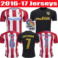 Wholesale best thai Atletico Madrid jerseys GRIEZMANN F TORRES JACKSON M koke home and away shirts