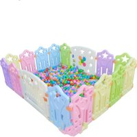Wholesale 2016 High Quality square kids plastic fence baby game fence playpen crawling baby guardrail fence