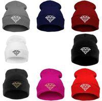beret knit hat pattern - Knitting Men Women Cap Diamond Pattern Beanies teens Winter Wool Hats Unisex Berets ski Hip Hop cap Christmas gift colorful