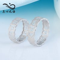 Wholesale S925 Silver Ring Mantra Padme Hung ring Couple rings silver rings gift chirstmas wedding Valentine s day