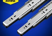 Wholesale 304 stainless steel hardware mute ball three thick drawer slide rail track dampers