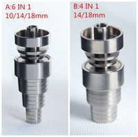 Wholesale Safty In Titanium Nails mm Female And Male Titanium Domeless Nail Set For Smoking Pipe