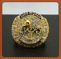 Cheap Wholesale 2016 Fashion Free Shipping Kobe Lakers Present Kobe Bryant With Retirement Ring Twenty Years Black Mamba Replica Ring