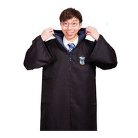 Wholesale Children Adult Halloween Harry Potter Cloak Ravenclaw Magic School Cosplay Costumes Cloaks Robe Classic Cosplay CH0080