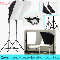 Wholesale photography diffuser v Four Lamp Holder With cm Continuous Flash Lighting Softbox and Light Stand