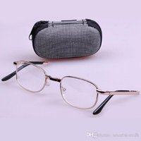 Wholesale Folded High quality metal frame eyeglasses Reading Glasses with box E00390 CARD