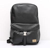 Femmes Hommes Vintage PU Cuir Marron Noir Laptop Sport Daily Sac à dos Travel Girl Double Shoulder Female Bag